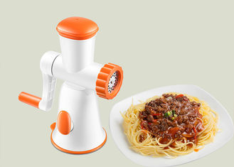 China Portable Home Manual Meat Mincer Dishwasher Safe Orange And White Color supplier