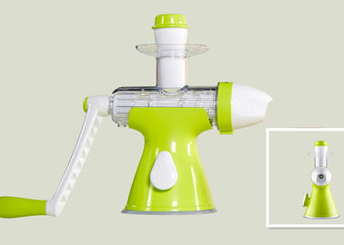 China Green Color Frozen Fruit Ice Cream Maker Manual Squeezing Without Additives supplier