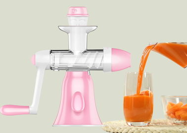 China Small Size Slow Speed Masticating Juicer , Fruit Juice Making Machine Non Electric supplier