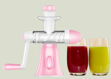 China Pink Color Fruit And Vegetable Juice Maker , Non Electric Hand Juice Maker Squeezing Slowly supplier
