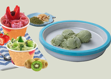 China PP + Alloy House Hold Instant Ice Cream Pan , Homemade Ice Cream Maker supplier