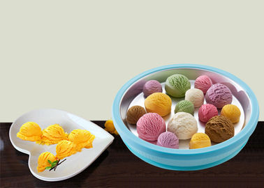 China Easy Operate Manual Instant Ice Cream Roll Tray Superior Refrigeration Performance supplier