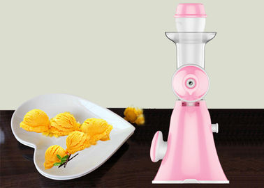 China Pink Mini Hand Ice Cream Maker Homemade Pure Juicer No Added Preservatives supplier