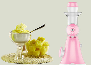 Pink Color Fruit Mini Ice Cream Maker Non Electric Type Overall Unit Washable