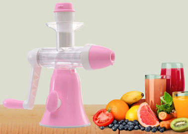China Small Size Screw Squeeze Manual Juice Maker Ice Cream Maker Power Free factory